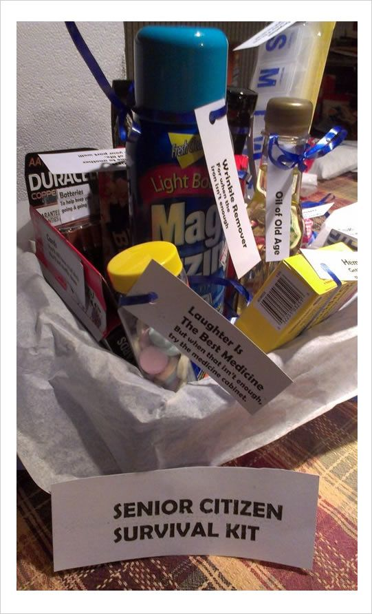 Senior Citizen Survival Kit Gift