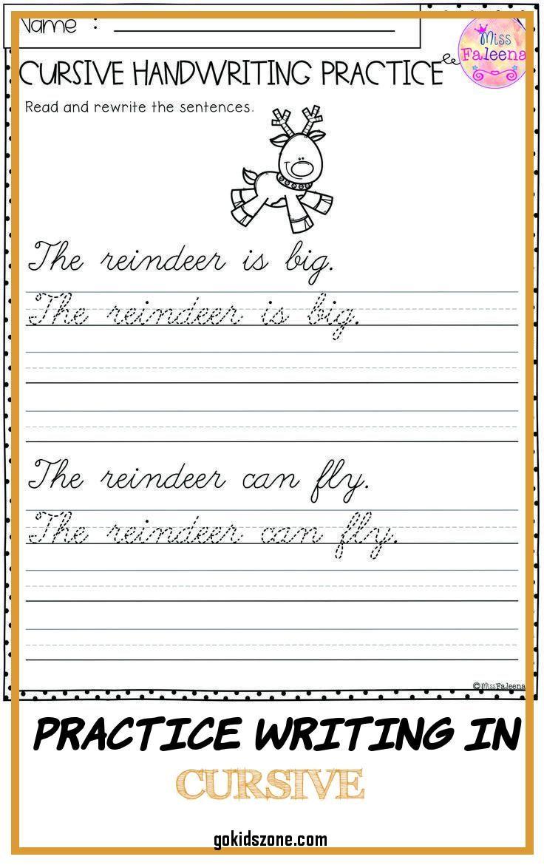 Practice Writing In Cursive Christmas Cursive Handwriting Practice 8 Practice Writing In Curs In 2020 Cursive Writing Writing Practice Cursive Handwriting Practice [ 1170 x 736 Pixel ]