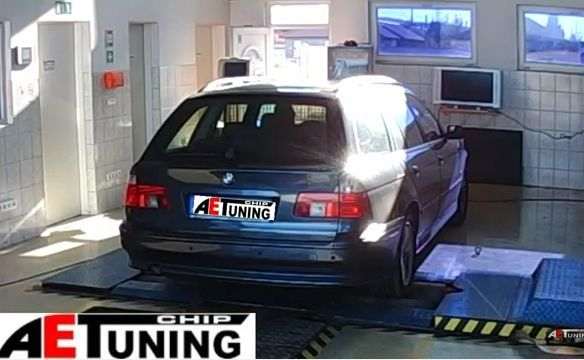 BMW 525D 163LE Chiptuning, fékpadi optimalizálás