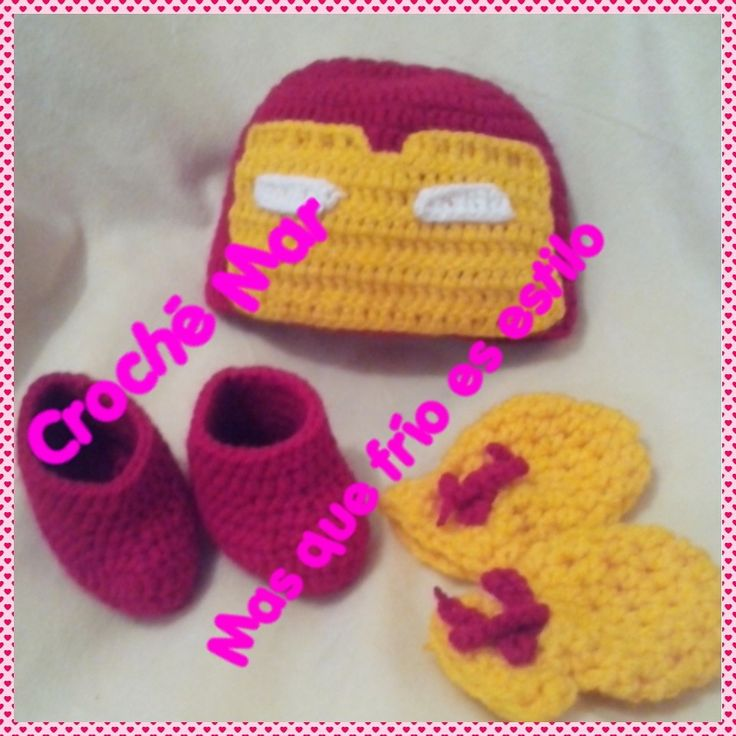 Conjunto de Iron Man por Croche Mar