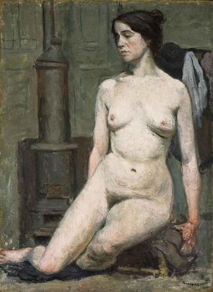 Albert Marquet - Femme assise, Oil on canvas on MutualArt.com