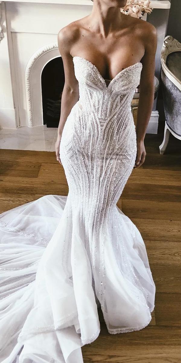 Schatz Brautkleider Meerjungfrau Pailletten trägerlosen Ausschnitt mit Zug pallas …   – Wedding inspirations