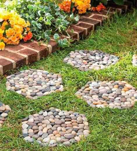 mira lo que tambin puedes hacer con piedras decorativas pasos para tu jardn