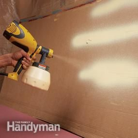 Awesome tutorial on spray painting kitchen cabinets