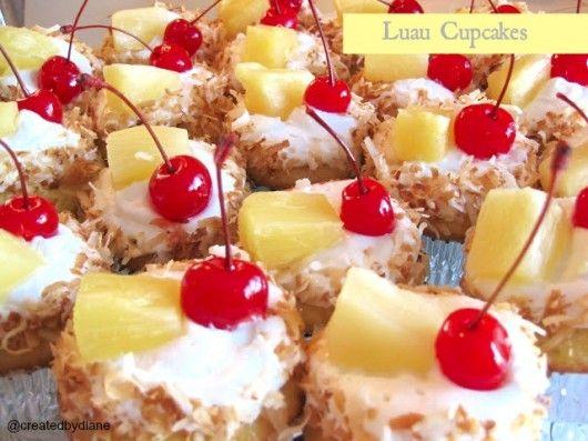 luau cupcakes @createdbydiane