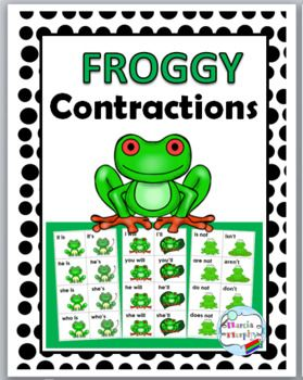 Contractions Matching Activity - Frog Theme