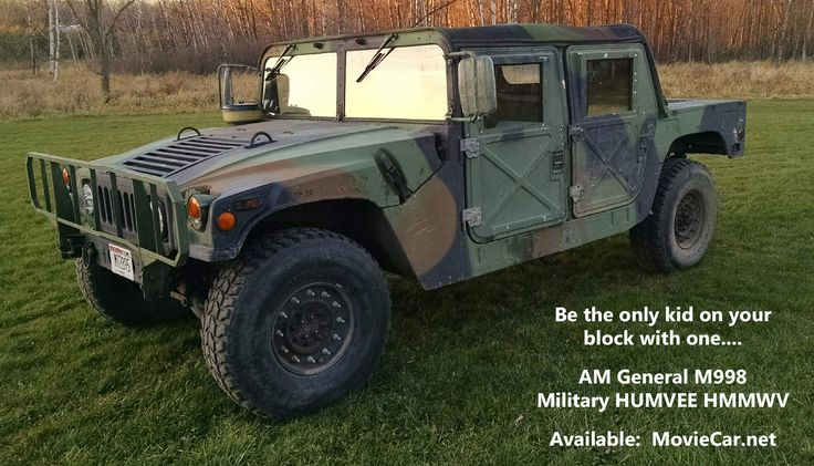 1989 AM General M998 Military Humvee HMMWV - 5300 Miles - Can be in your driveway.  Hollywood Movie Car Company - MovieCar.net