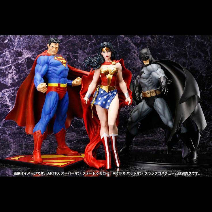 Superman ArtFX, Batman ArtFX and Wonder Woman ArtFX