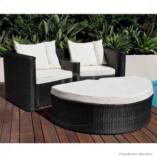 Oasis Love 2pc Sofa Set - Outdoor Wicker Furniture