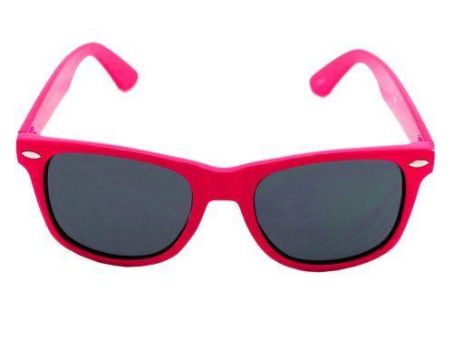 Neon Pink Wayfarer Sunglasses Gallo