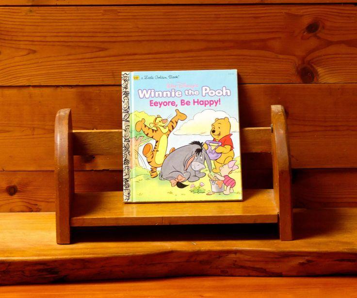 Vintage 1990's Little Golden Book ' 102-62 Winnie the Pooh 'Eeyore Be Happy' by JessaBellas on Etsy