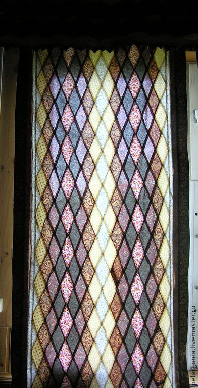 """Шторы лоскутные """"Мозаичный витраж""""(пэчворк,текстиль,занавески) - разноцветный"""