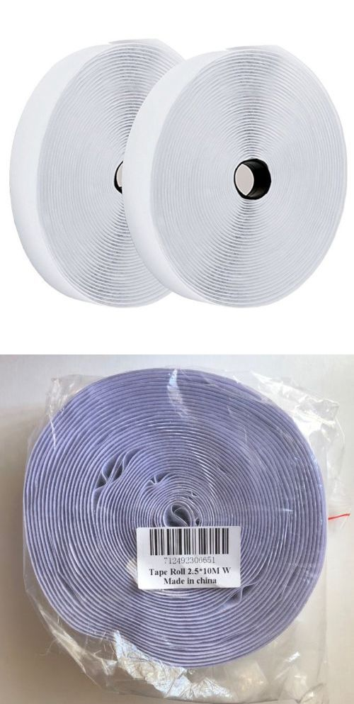 Hook And Loop Tape 180927 Hook And Loop Tape Roll Self Adhesive Back Strips By Toptoper 1 X 32 8 White Buy It Now Only Hook And Loop Tape Looping Ebay