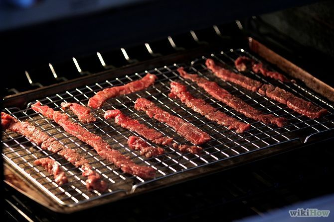 How to Make Beef Jerky in the Oven {WikiHow} - Key: set the oven no lower than 165F, as any lower and the temperature will not be enough to kill any bacteria on the meat that could spoil it.
