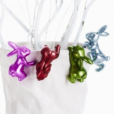 Paasdecoratie Pinon - 4-delige set kunsthars/ Easter Decoration Pinon - 4-piece set resin
