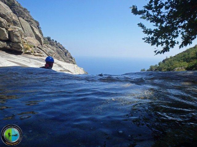 Swiming at mountain! Samothrace island, Greece