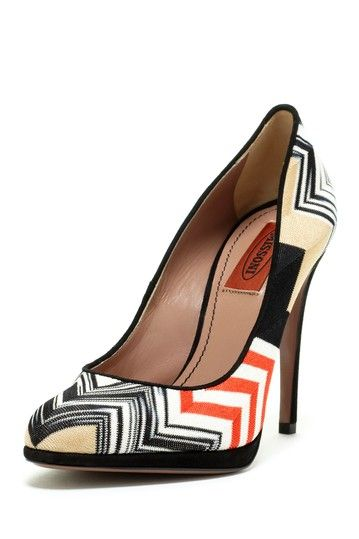 Missoni Zigzag Print High Heel Women Shoes