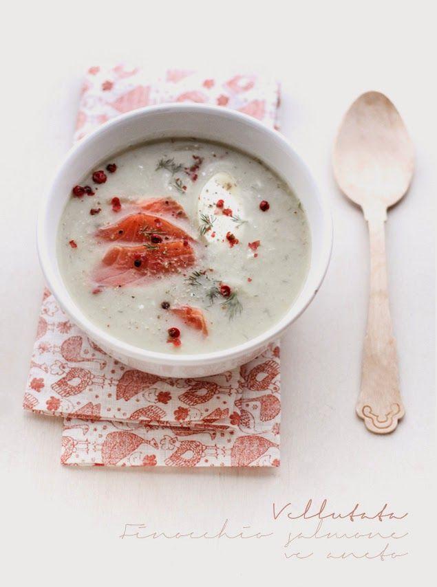 Vellutata di finocchio con salmone affumicato e aneto, da Vaniglia Storie di Cucina