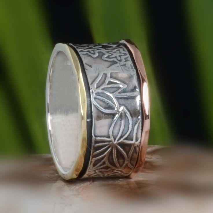925 STERLING SILVER EXCLUSIVE SPINNER RING 6.23g DJR10606 SZ-8.5 #Handmade #Ring