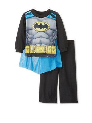 63% OFF Boy's Batman Uniform 2 Piece Pajama Set (Blue)