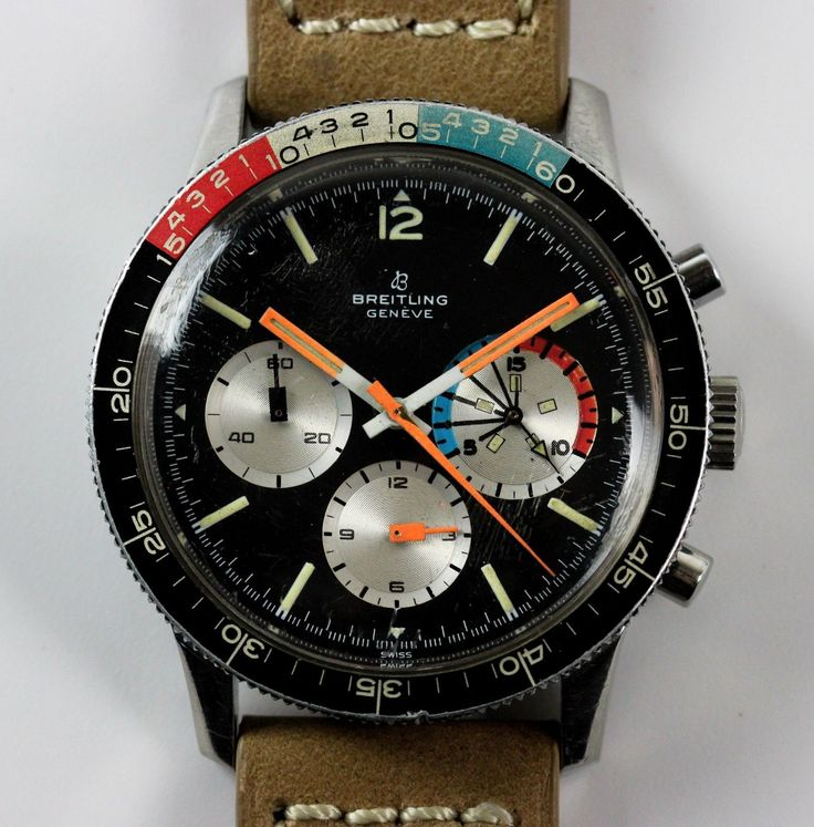 Vintage Breitling Chronograph Yachting AVI 7650 Wristwatch RUNNING