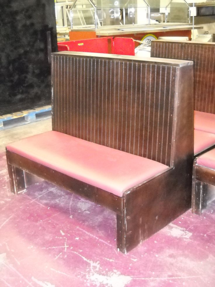 Used Wood Restaurant Booths   Used Commercial Restaurant Equipment for Sale