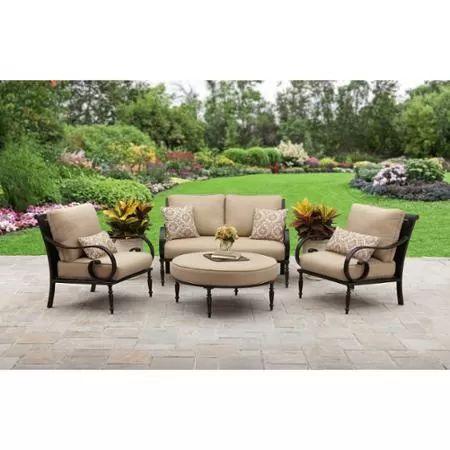 Better Homes And Gardens Englewood Heights II Aluminum 4 Piece Patio  Conversation Set, Seats