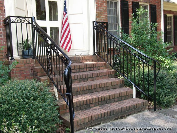42 best front stairs images on Pinterest | Front stairs, Wrought ...