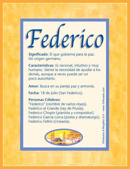Federico, imagen de Federico