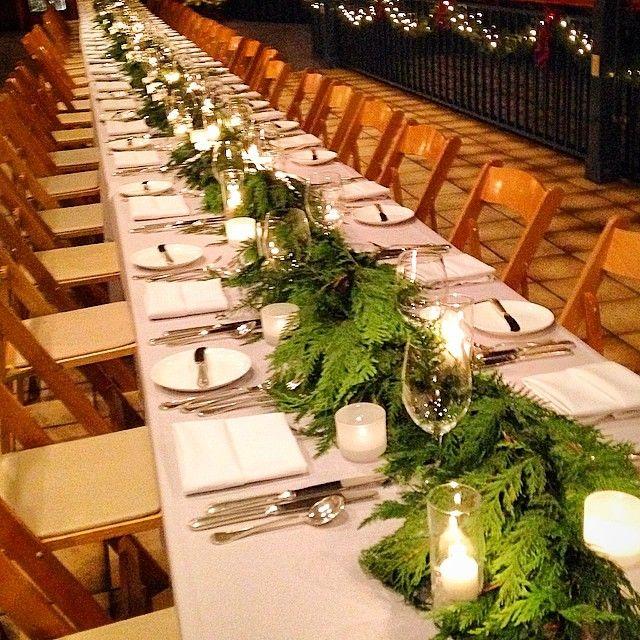 "Table ""runner"" Centerpiece, Fresh Cedar"