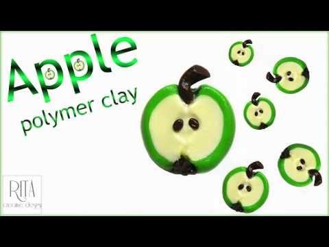 JAK ZROBIĆ JABŁKO Z MODELINY | fimo | miniature apple polymer clay - YouTube