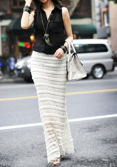 Overlay Maxi Skirt from @LookBookStore
