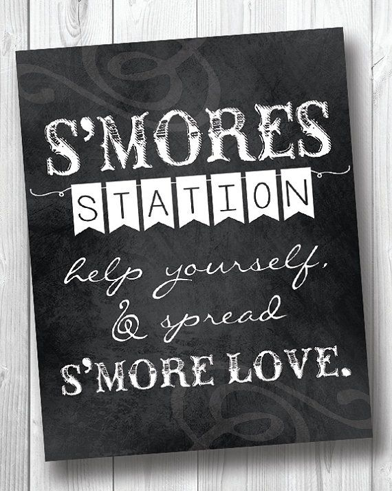 S'mores Sign  DIY S'mores Station Print  by BirdcageCreationsMD