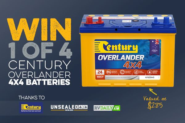 Win 1 of 4 Century Overlander Batteries https://wn.nr/fmYkrc