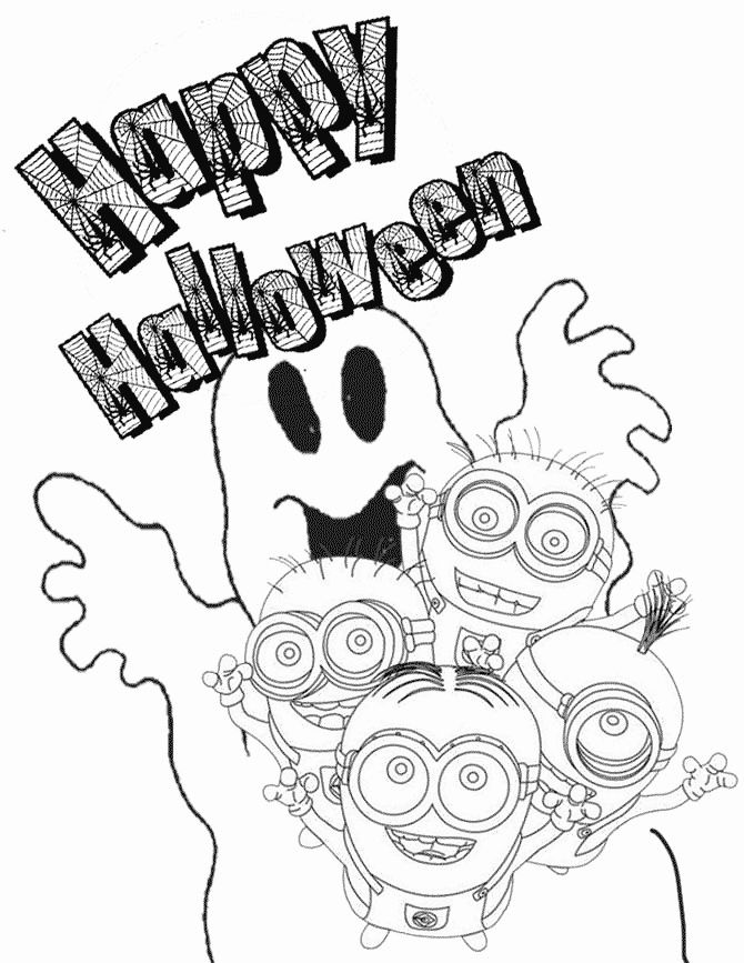 Download Minions Halloween Coloring Pages Unique Minion and Ghost Coloring Page | Halloween coloring ...