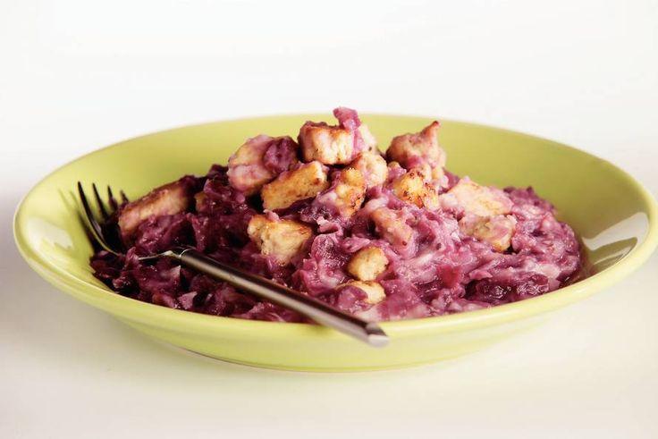 Kijk wat een lekker recept ik heb gevonden op Allerhande! Rodekool-cranberrystamppot