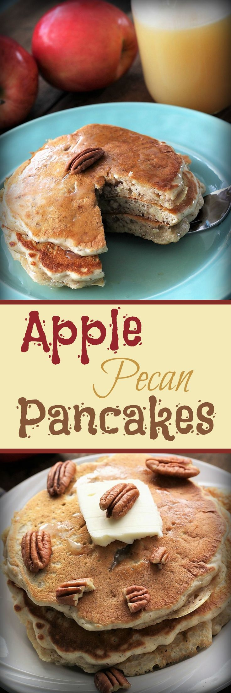 Apple Pecan Pancakes , Recipe Treasures