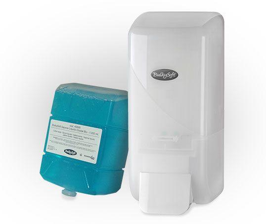 PROMOCJA BulkySoft 4 mydła+ dozownik za 19,90zł Dozownik do mydła w płynie firmy Bulkysoft - wydajny i praktyczny dzięki pojemności 1 l. Dedykowany pomieszczeniom o dużym natężeniu użytkowników. Wykonano go z ABS - tworzywa wytrzymałego na zarysowania i uszkodzenia, a przy tym pozwalającego zachować wysoką higienę. Jest łatwy do czyszczenia, prosty do montażu i obsługi.