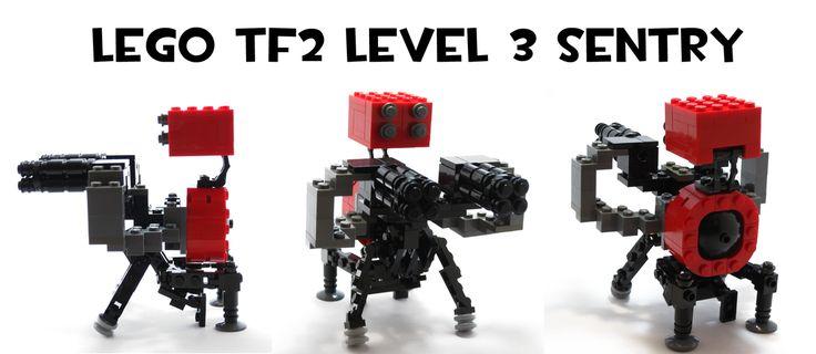 Lego TF2 Level 3 Sentry by HybridAir on DeviantArt #tf2 #gaming #teamfortress