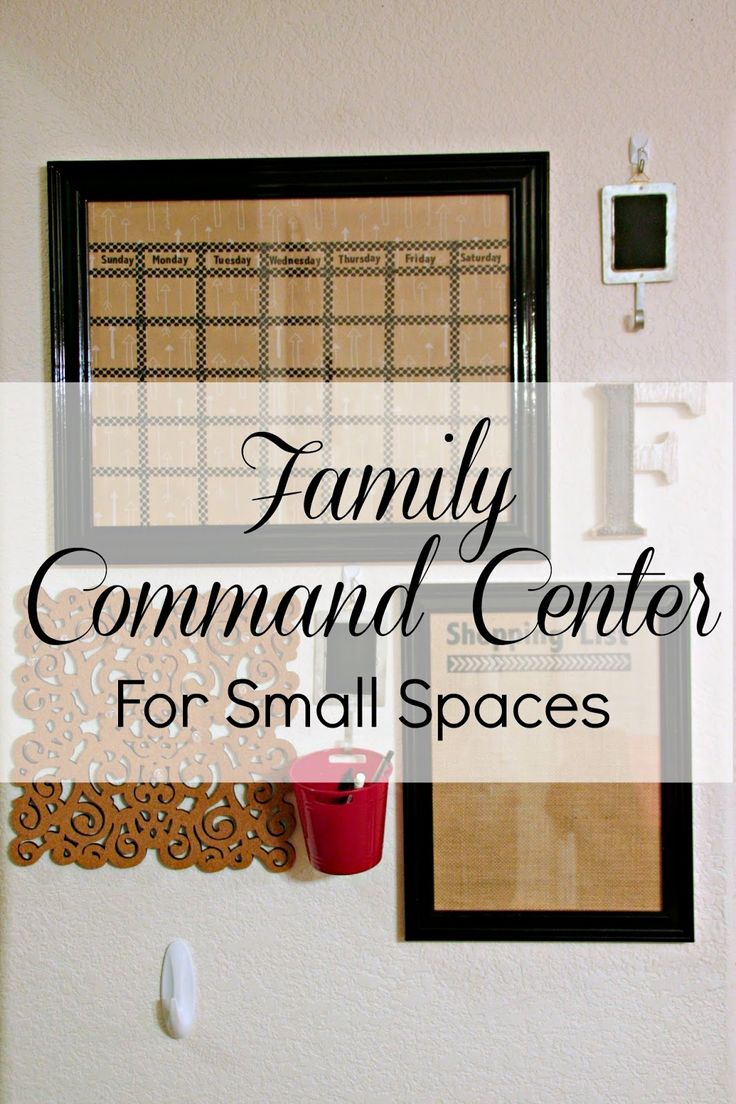 Family Command Center For A Small Space