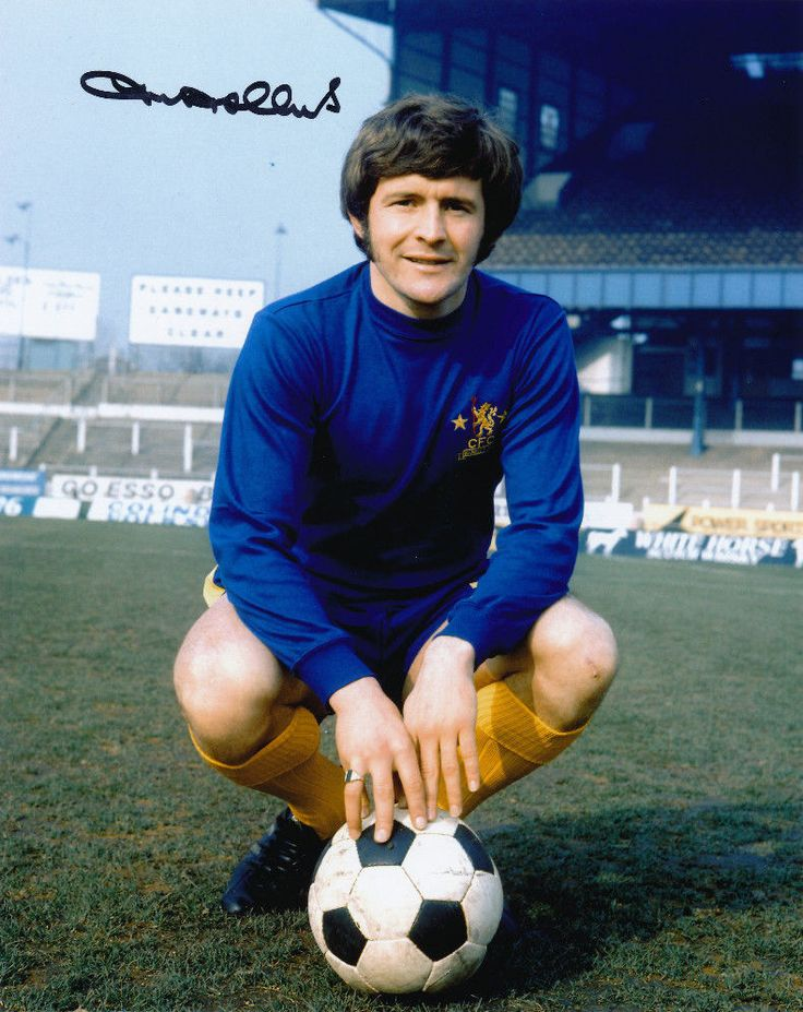 Chelsea's John Hollins, 436 games and 47 goals for the club from 1963 to 1975.