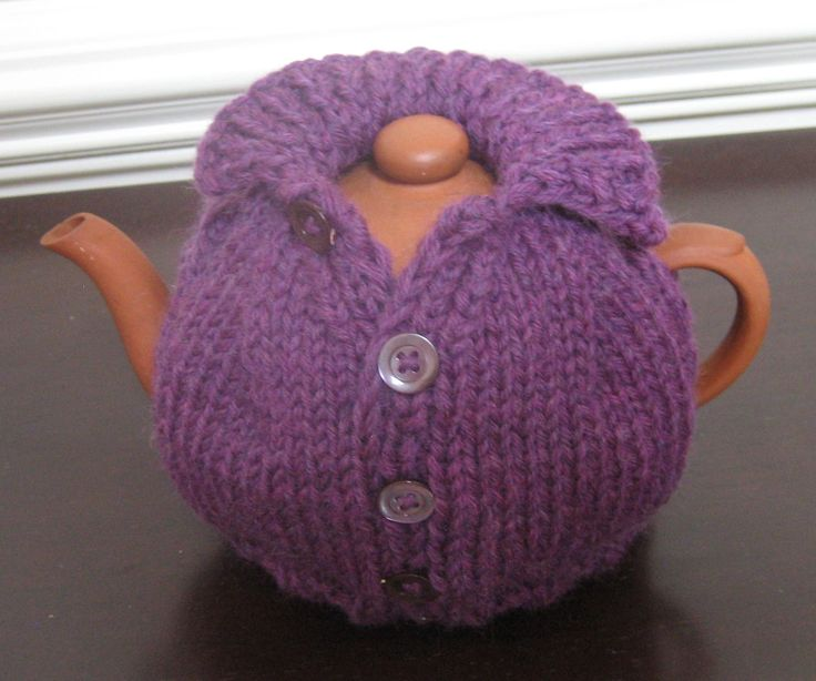 Suzyn Jackson Gonzalez' - The Purple Tea Cosy---I've not this much time or talent, but isn't this cute?