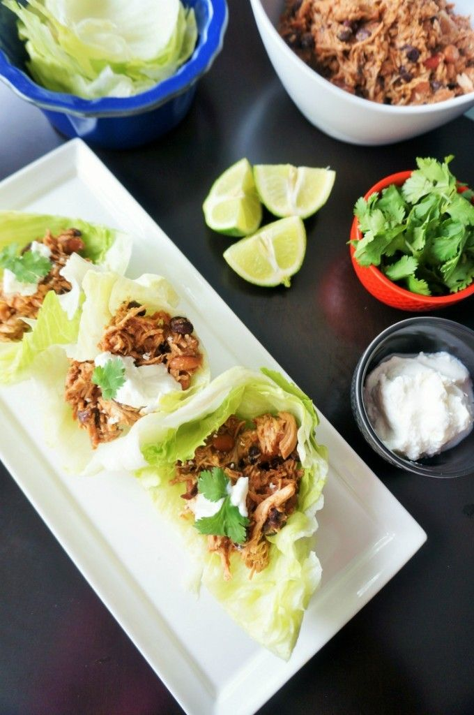 A fresh Mexican spin on lettuce wraps. This sweet and savory combination comes together in less than 5 minutes for the slow-cooker and then simmers for hours to create a fiesta for your taste buds.
