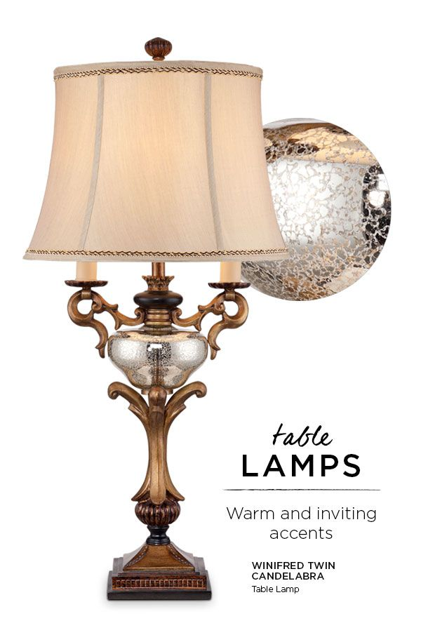 Traditional Table Lamps - Our collection of traditional table lamps offers a range of features like relief work, scrolling and fluted bases, and exquisite finishes, all inspired by the art and architecture of classical eras. The result is a timeless look that works beautifully in the living room or bedroom now and for years to come.