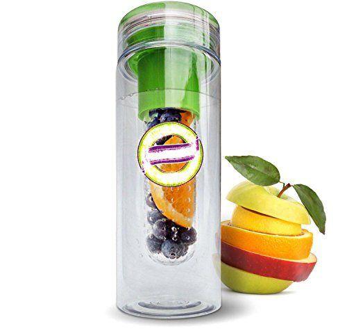 Infuser Water Bottle - 28 Ounce - Tritan Fruit Water Bottle for Juice, Iced Tea, Lemonade & Sparkling Beverages - http://teacoffeestore.com/infuser-water-bottle-28-ounce-tritan-fruit-water-bottle-for-juice-iced-tea-lemonade-sparkling-beverages/