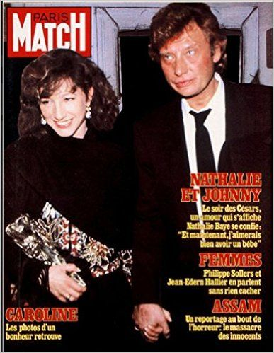 nathalie baye et johnny hallyday femmes en couvertures de paris match pinterest nathalie. Black Bedroom Furniture Sets. Home Design Ideas