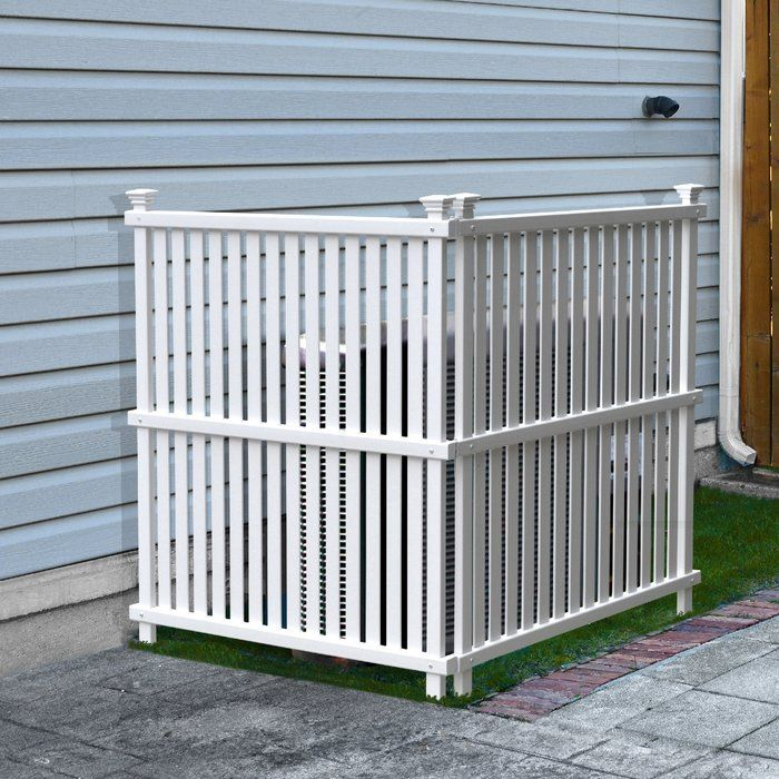 Tired of looking at your air conditioner units or trash bins? These no-dig vinyl privacy screens offer an attractive way to hide the unsightly things in your yard. Made with maintenance free and weather resistant PVC, the screens look the same on the both sides. Installation is easy with the staked posts that you insert into the ground so you can avoid digging holes or pouring concrete. Each kit comes with 2 screens to make a right angle and you can purchase multiple units if you need to…