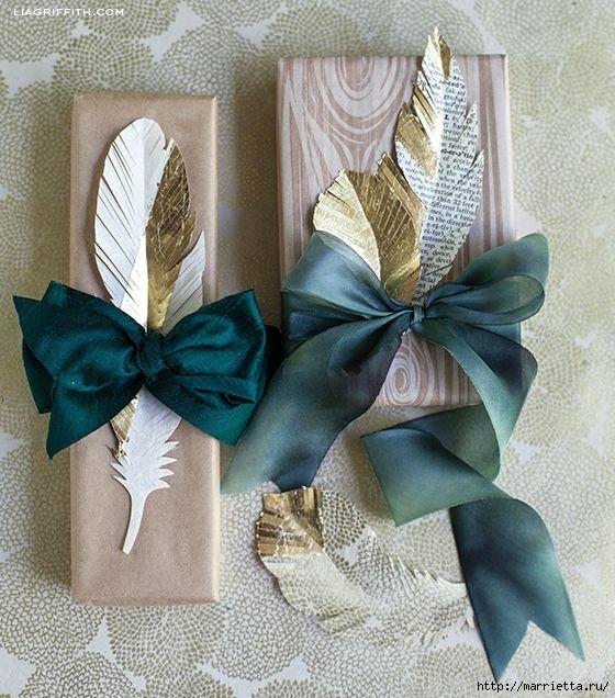 Перья из бумаги для праздничной гирлянды и украшения елочки. ШАБЛОНЫ ПЕРЬЕВ (4) (475x700, 268Kb)