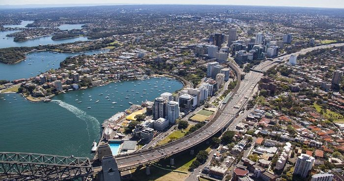 Milsons Point Sydney is located on the left hand, northern side of the Harbour Bridge and is home to the famous Luna Park.