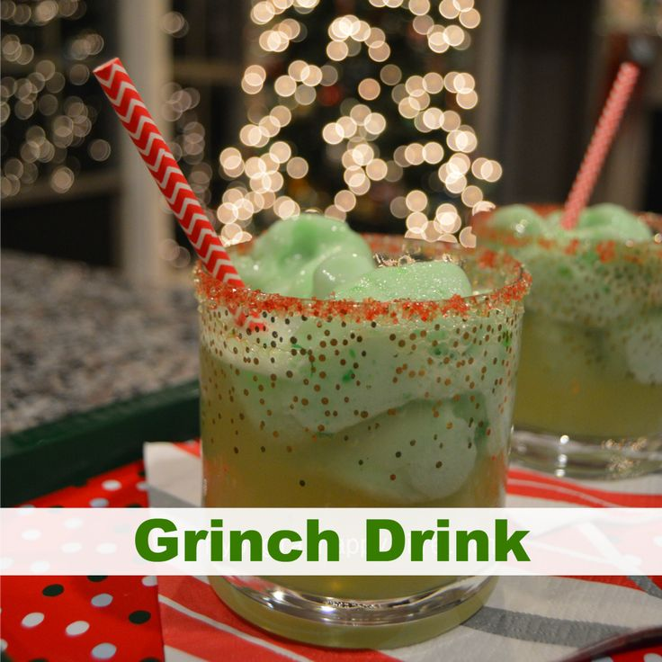 Grinch Drink - A fun family friendly drink to enjoy while watching How the Grinch Stole Christmas